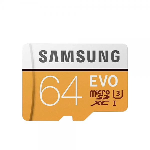 کارت حافظه microSDXD سامسونگ مدل EVO کلاس 10 استاندارد UHS-I U3 با آداپتور SD ظرفیت 64 گیگابایت